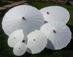 2021 Livre blanc pas cher Parapluies de mariée mariage Ombrelles style chinois Mini Craft parapluie bricolage peinture parapluie mariage