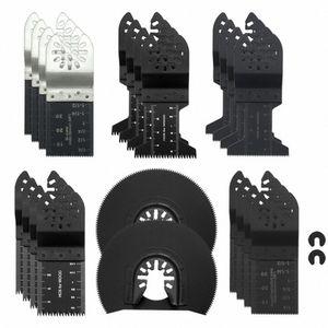 24PCS Multi-Funktions-Bi-Metall-Präzisionssägeblatt Oszillierende Multisägeblatt für Renovierer Kraft-Schneid Multi-Master-Tool Ynzz #