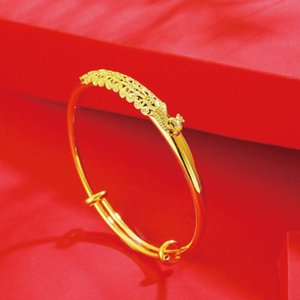 MxGxFam Wedding Jewelry Phoenix Bangles and Bracelets for Bridal Women Pure Gold Color