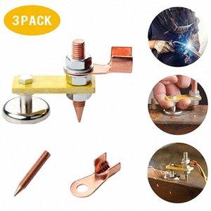 3 Pack nético Soldadura Soldadura pinza de masa neta Cabeza nético soporte de cobre cola Estabilidad abrazaderas 1SB7 #