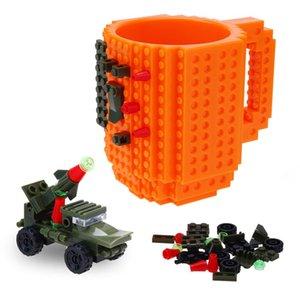 350ml criativa Milk Caneca Cup criativa Build-no tijolo Caneca taças Titular Água para LEGO Building Blocks design