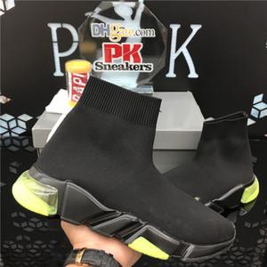 PK 2020 Negro Blanco Pariss calcetín zapatos Nueva Speed Trainer estiramiento de punto medio Chaussures tapa de la manera respirable Para Hombres Mujeres Zapatos Casual