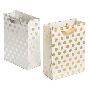 Gift Bags Set with Ribbon Handles Gold and Silver gift Bags Perfect for Weddings, Birthday and Holiday Presents