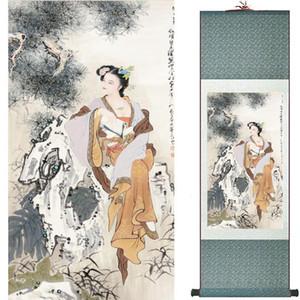 Traditionelle chinesische Kunst Malerei Silk Scroll-Malerei Chinese waschen Wäsche 201907300018