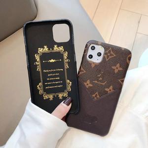 Мода V карта карман мобильный телефон случае для Iphone 11 про х хз макс 11Pro 8 8plus 7 7plus хт кожи кожи обратно защитить дизайн обложки ультрамодный