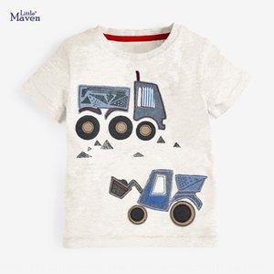 Küçük maven yaz yeni kısa kollu pamuklu kısa kollu çocuk tişört tarzı yuvarlak boyun çocuk tişört