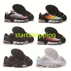 Дизайн 2019 Plus TN III 3 подножка обувь Мужчины Женщины кроссовки Tuned Черный Белый Tn Ультра Инструкторы люкс беговые кроссовки Размер 36-45