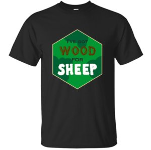 Short Sleeve Printed Wood For Sheep T Shirt Man 2019 Army Green Size S-5xl Original Men Tshirt Round Collar Hiphop Top Casual