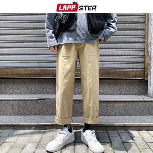 Мужские брюки Лаппстера Мужчины Хаки Японская уличная одежда Cargo 2021 Комбинезон Мужской Harajuku Korean Fashions Vintage joggers