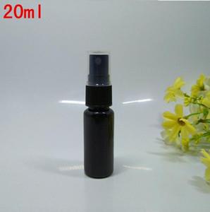 20 ML Doldurulabilir Siyah İnce Mist Püskürtme Şişe 0.66Oz Parfüm Sprey Şişe Kozmetik Atomlaştırıcılar PET Spray şişeler Pompa SN1609