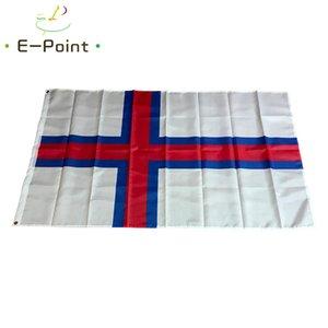 Färöer-Flagge 3 * 5 Fuß (90cm * 150cm) Polyester Banner Dekoration nach Hause fliegt Garten Flagge