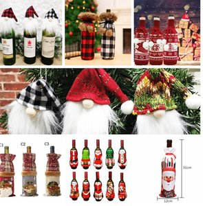 Xmas Party camisola Decor Table Dinner Party Xmas Capa Bag Vinho Tinto Natal Garrafa Presentes Wine Bottle Detalhes no LJJK2440