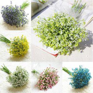 16pcs   set Baby Breath Artificial Flowers Fake Gypsophila Bouquets Floral Arrangement DIY Wedding Party Home Garden Decoration