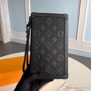 Candy Сумка SOFT ТРАНК дефиле сцепления реальный кожаный кошелек мужской карты держатель сумка вышивка сумка с коробкой A013