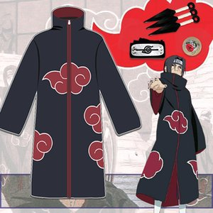 Naruto Clothes Xiao Organization Coat Cloak Xiao Pao Male Uzhibo Weasels Payne Cos Clothing Red Cloud Robe Trench Coat cosplay