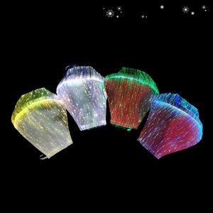 IK005 HOT! LED تضيء الأزياء الملونة قناع الوجه مصمم قناع الوجه هالوين قناع AHA247