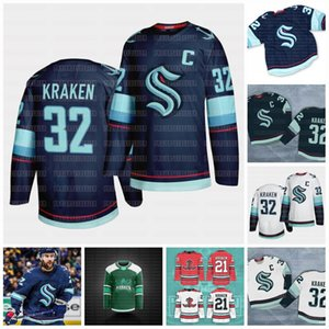 Seattle Kraken 2021 Hockey Jersey 32 ° New Team personalizzato Jersey Road Home Qualsiasi nunber qualsiasi nome Uomini Donne gioventù