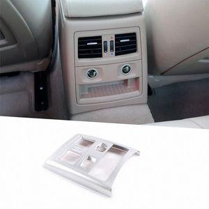 Para E90 Serie 3 2005 2012 ABS del coche del marco del aire acondicionado trasero interior Vent Recorte Accesorios vj81 #