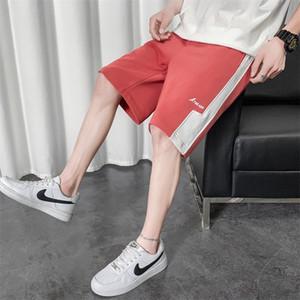 LlNZM los pantalones 2020 pantalones cortos de playa nueva cortocircuitos de los hombres del verano deportes del estilo de Corea del ocio flojo multicolor juventud marca de moda de cinco puntos Pan Beach
