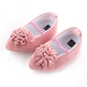 Мягкая Soled Покрытием Обувь Резинка Обувь Симпатичные Девочки Лук Кожа Frist ходунки