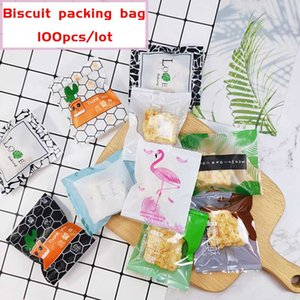 100pcs lot Cookies Bag Candy Handmade Baking Pack Living Decor Homemade Nougat Biscuit Party Wedding Sack Packing Bags
