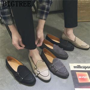 Müßiggänger Schwarz Doppel Mönch Strap Schuhe Formale Kleidung Business Schuhe Männer Oxford Leder Mode Gents Schuhe MOCASSIN HOME DE LUXE