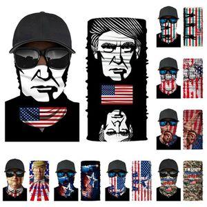 Yeni Trump Magic Eşarp 2020 Amerika Başkanı Seçim Maskeler 3D Dijital Baskı Çoklu Stil Açık Cyling Scarives bandanas IIA397
