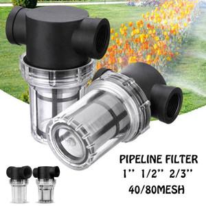 Araba Yıkama Filtre 1 / 2,2 / 3 inç Inline Mesh Süzgeç Su Pompası Filtre Sulama Yüksek Akış Boru Hattı Filtre Bahçecilik Giriş Suyu