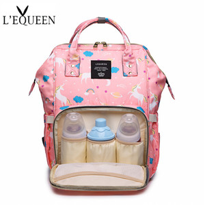 LEQUEEN Fashion Mummy Maternity Bag Multi-function Diaper Bag Backpack Nappy Baby with Stroller Straps for Baby Care