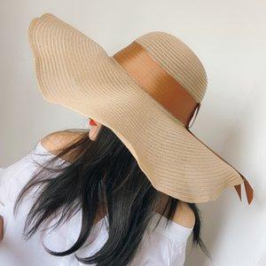 Strandurlaub Straw fake fake weiblicher Sommer großer Traufe Sonnenschutz faltbar Strohhut koreanisches Allgleiches Art und Weise Sonnenhut Mode