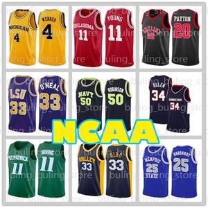 Allen Iverson 3 jerseys NCAA 50 David Robinson ONEAL Colegio 34 Ray Allen 33 Larry Bird 20 Gary Payton 7 Toni Kukoc Baloncesto