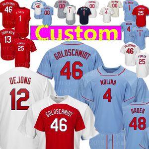 Özel 12 Paul DeJong 61 Genesis Cabrera 46 Paul Goldschmidt Jersey 13 Matt Carpenter 60 John Brebbia 48 Harrison Bader 50 Wainwright forması