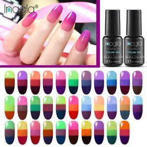 Inagla Temperature Change 3 Color Change UV Gel Lacquer Gel Nail Polish Manicure Thermo Nail Art Mood Hybrid Varnish