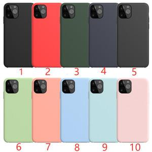 Cassa del telefono morbido silicone per iPhone 12 11 Pro MAX XS XR SE 2 indietro casi copertina caramella con Package