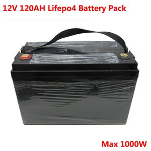 1000W 12V 120Ah Lifepo4 battery pack for UPS solar storage sytem panel golf trolley motor caravan 14.6V 10A charger