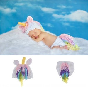 hand-woven Pony baby knitted hathat knitted hat photography suit unicorn newborn photography clothing