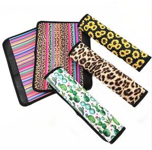 Car Seat Belts Cover Neoprene Print Leopard Seat Belt Sleeves Sunflower Cactus Car Safety Seat Belt Cover Belt Strap Pad Hot Sales ALSK133