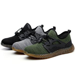 Zapatos JACKSHIBO seguridad en el trabajo para el dedo de los hombres respirable del verano Acero Botas de Trabajo Anti-sensacional Construcción Seguridad en el Trabajo zapatillas de deporte