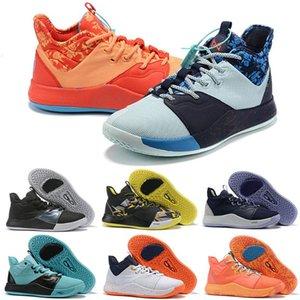 2019 bandeira americana New Paul George 3 PG3 EYBL O Mestre NASA BHM Basketball Shoes Venda baratos homens formadores PG Sports Sneakers