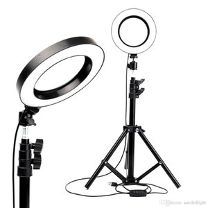 LED Ring Light Photo Studio Camera Light Photography Dimmable Video light for Makeup Selfie with Tripod Phone Holder