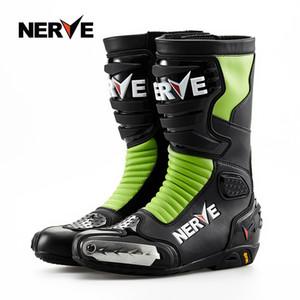 Nervio NV003 Motocicleta Botas Profesional Hombres de motocross ciclismo todoterreno Zapatos Rider equipo de protección a prueba de agua