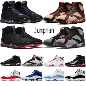 Мужчины 6 Кольца баскетбольных кроссовок 6S UNC White Light Blue Fury Cyber моды 7S Золотые мгновения черные лакированные женские спортивные тренажеры кроссовки