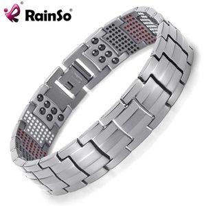 Rainso Homens Jóias cura magnética Balance Bracelet Saúde Titanium Pulseiras Projeto especial para o Homem CX200731