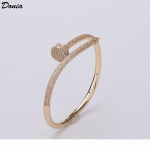 Donia jewelry party European and American fashion card family large classic micro inlaid Zirconia Bracelet women's bracelet birthday gi