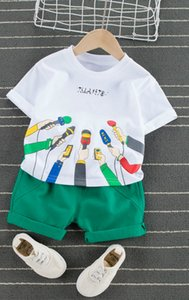 2020 New Children's Clothing Suits For Boys And Girls Short-sleeved T-shirt Tops Shorts 2-piece Cartoon Microphone