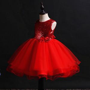 Lantejoulas Vestidos para meninas Princesa Wedding Party Hetiso Crianças Natal das crianças Roupa Aniversário do bebê do vestido da menina com arco 10Y