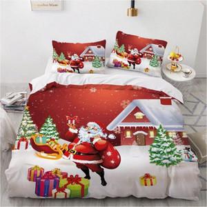 3D Christmas Design-Tröster Fall Duvet Bettbezug Bettwäsche Set Einzel-König-Queen Doppelzimmer Einzel Größe Home Textile ag2n #