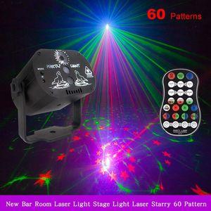60 Desenler RGB LED Disko Işık 5 V USB RGB Lazer Projeksiyon Lambası Sahne Aydınlatma Gösterisi Ev Partisi KTV DJ Dans Pisti için