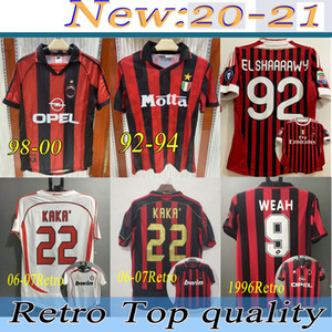 98 00 11 12retro Milan Soccer Jersey Kaka Ronaldo Gilardino Inzaghi Retro Camiseta 2006 2007 Milan à manches longues Milan Jersey Jersey Classic Vintage