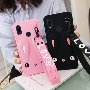 Adorable Phone Case For Xiaomi Redmi Note 8 Pro Note 8 Redmi 7 7A K20 Safe Silicone Rabbit Case With Cute Short + Long Lanyard